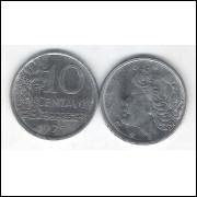 1975 - 10 Centavos, fc. Aço.