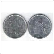 1976 - 10 Centavos, fc. Aço.