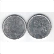1977 - 10 Centavos, fc. Aço.