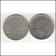 1970 - 50 Centavos, fc. Cupro-níquel