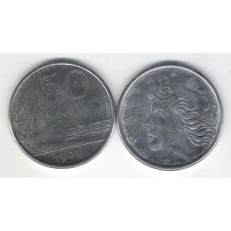 1979 - 50 Centavos, fc. Aço.