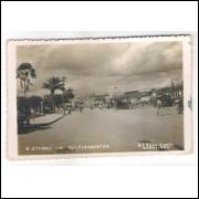 to04 - Cartão postal antigo, Teófilo Ottoni -2- Praça Tiradentes. Studio Foto Ideal Caratinga.