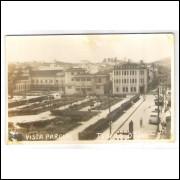 to08 - Cartão postal antigo, Teófilo Otoni, Praça Tiradentes.