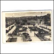 to11 - Cartão postal antigo, Teófilo Otoni, Jardim público.