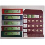 Cartela, álbum para coleção das moedas de 1 Real das Olimpíadas.