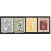 Peru, 1948, Olimpíadas de Londres, esportes, série aérea nova. Sc. 78/81, Yv. Aer. 116/119.