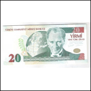 Turquia - (P.219) 20 Liras nova (new lira), 2005, fe.