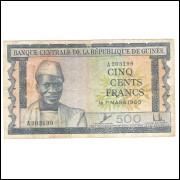 Guiné - (P.14) 500 Francs de 1960.