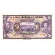 Bolivia - (P.123) 50 Bolivianos, 1928, mbc/s