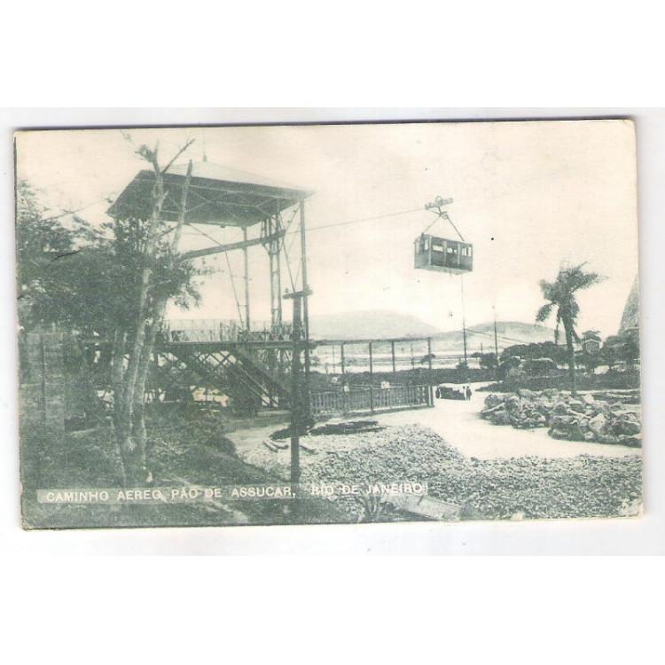 RJ121 - Postal antigo circulado 1922 Pão de Açúcar, Rio de Janeiro.
