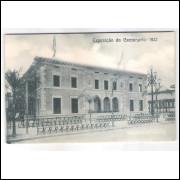 RJ115 - Postal antigo Exposição do Centenário - 1922, América do Norte, Rio de Janeiro.