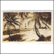 SA21 - Postal antigo, Coqueiros de Itapoan, farol, Salvador, Bahia.
