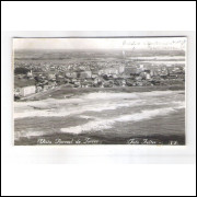 TR01 - Postal circulado 1963 Torres, praia. Foto Feltes.