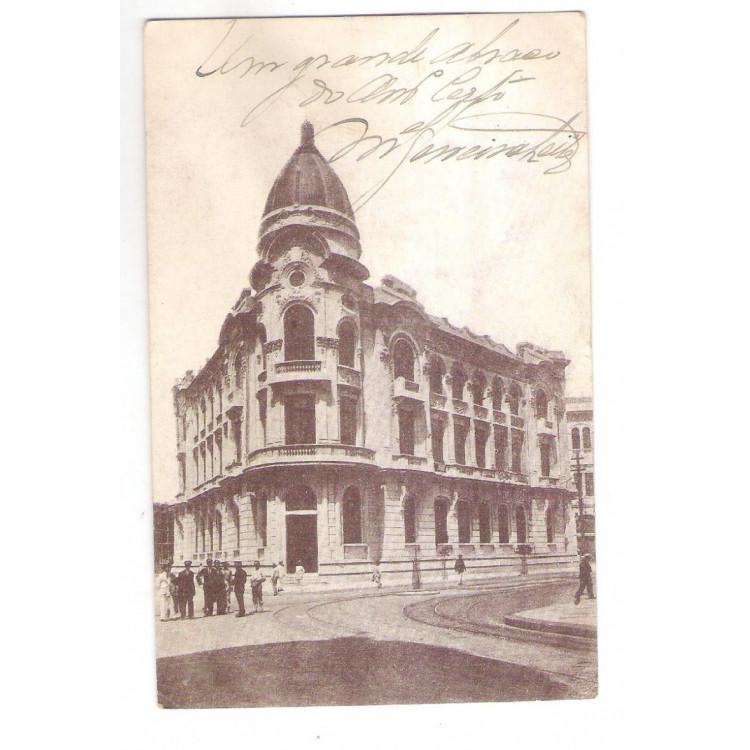 RE32 - Postal circulado em 1920, Banco Recife, Pernambuco.