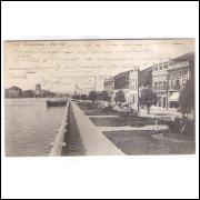 RE30 - Postal circulado em 1919, Rua do Sol, Recife Pernambuco.