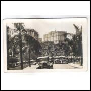 SP49 - Postal antigo, Hotel Esplanada, carros, São Paulo.