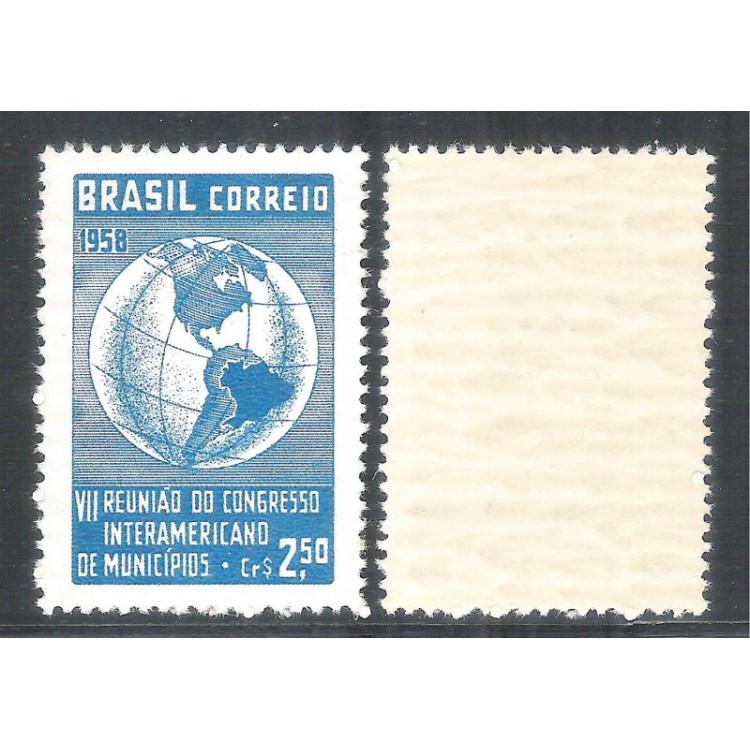 C-426Y - MARMORIZADO - 1958 - VII Reunião do Congresso Interamericano de Municípios.