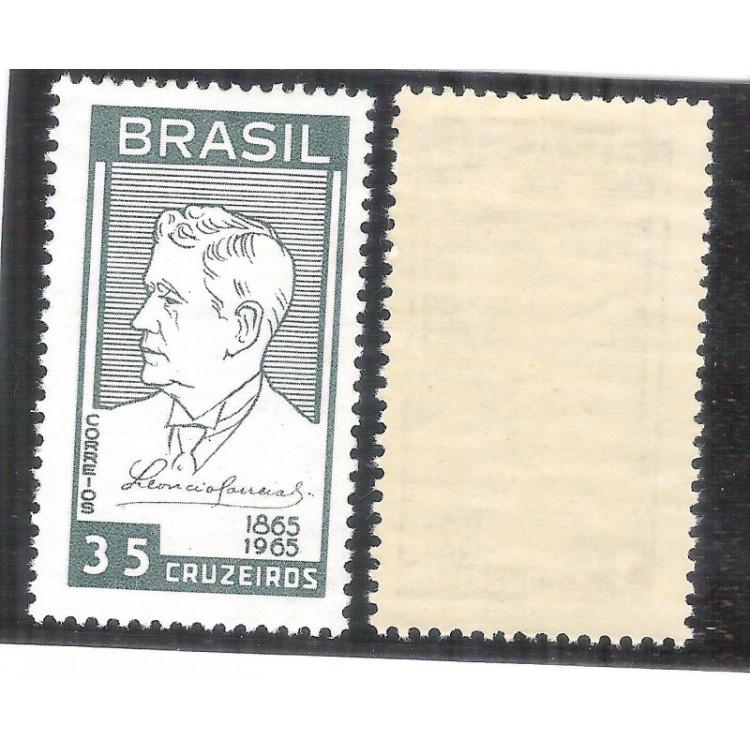 C-536Y - MARMORIZADO - 1965 - Centenário natalício de Leôncio Correia. Personagem.