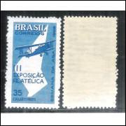 C-540Y - MARMORIZADO - 1965 - Semana da Asa e III Exposição Filatélica. Aviação.