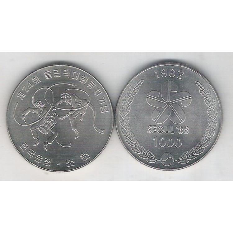 Coréia do Sul, 1000 Won, 1982, fc. Seul-82