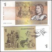 Austrália - (P.42) 1 Dollar, 1982, fe. Rainha Elizabeth II.
