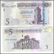 Líbia - (P.77) 5 Dinars, 2015, fe.