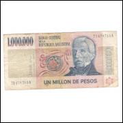Argentina (P.310) - 1 Milhão de Pesos, 1981-83, bc. Personalidade: San Martin