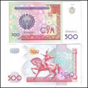 Uzebequistão (P.81) - 500 Sum 1999, fe. Cavalo.