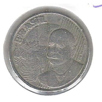 1998 - 50 Centavos, Variante: BRASIL DUPLO.