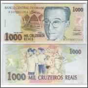 C238 - 1000 Cruzeiros Reais, 1993, fe. Aniisio Teixeira.