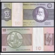 C141 - 10 Cruzeiros, 1980, Ernâne Galvêas e Carlos G. Langoni, s/fe. D. Pedro II.