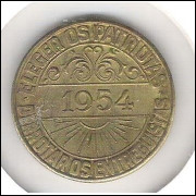Brasil, Medalha Política 1954 Tiradentes - ELEGER OS PATRIOTAS - DERROTAR OS ENTREGUISTAS.