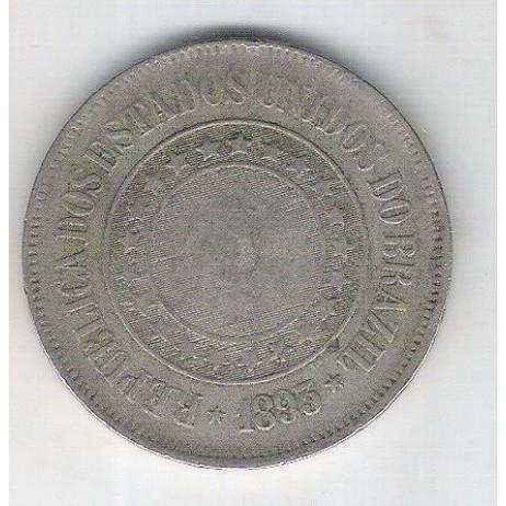 1893 - Brasil, 200 Réis, cuproníquel, bc.