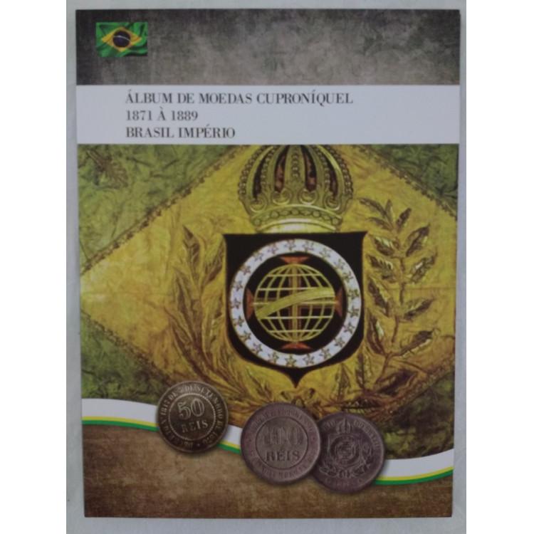 LANÇAMENTO: Álbum para as moedas de cuproníquel do Brasil-Império, 1871 a 1889.
