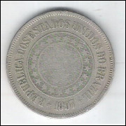1897 - Brasil, 200 Réis, cuproníquel, mbc.
