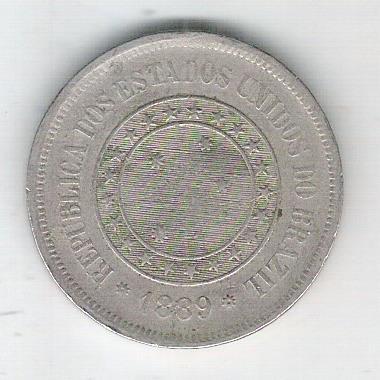 1889 - Brasil, 100 Réis, cuproníquel, bc.