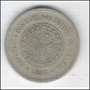 1895 - Brasil, 100 Réis, cuproníquel, bc.