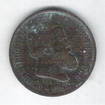 1868 - Brasil-Império, Dom Pedro II, 20 Réis, bronze, mbc