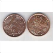 2000 - 1 Centavo, s/fc, aço revestido de cobre.