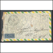 1945 - Envelope de Caçapava para Itália com carimbo de censura CCBS-7. Segunda Guerra.