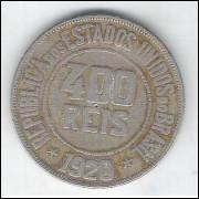 1920 - Brasil, 400 Réis, cuproníquel, mbc.