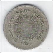 1898 - Brasil, 100 Réis, cuproníquel, bc.