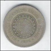 1896 - Brasil, 100 Réis, cuproníquel, mbc.