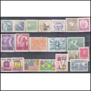 1945 - Coleção dos 20 selos comemorativos, novos. MINT
