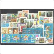 1995 - Coleção dos 45 selos comemorativos, novos. MINT