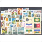 1982 - Coleção dos 52 selos comemorativos, novos. MINT