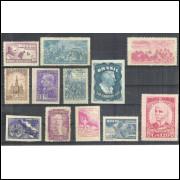 1949 - Coleção dos 12 selos comemorativos, novos. MINT