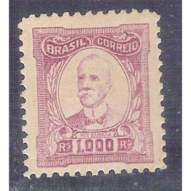 1925 - 334Es - 1000 Réis, Ruy Barbosa, chapa original, sem filigrana, novo com goma.