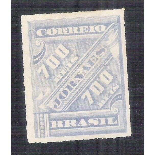 J-17 Brasil - 1889 - Selo para Jornal, 700 Réis, novo, sem goma.