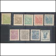 1946/1949 - 479/486+488 -  Série Netinha, com traços no verso, nova com goma.